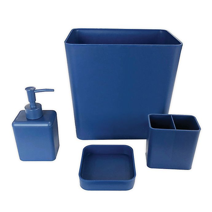 Alternate image 1 for Simply Essential™ 4-Piece Bath Accessory Bundle Set