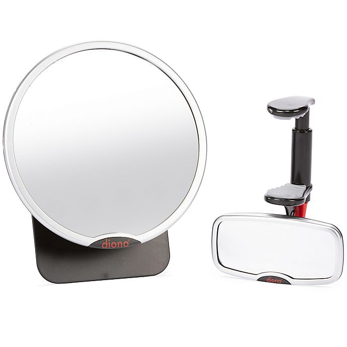 Alternate image 1 for Diono® 2-Piece Easy View™ and See Me Too™ Mirror Set in Silver