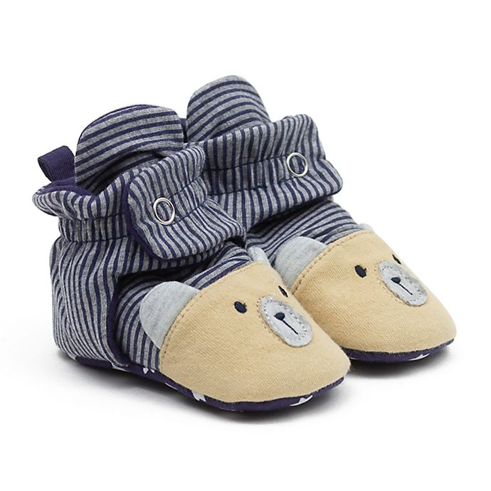 Alternate image 1 for Ro+Me by Robeez® Size 3-6M Bear Slipper in Navy