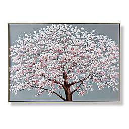 Cherry Blossoms 27.6-Inch x 39.4-Inch Framed Canvas Wall Art