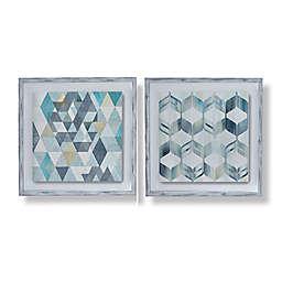 Nostalgic Geos 20-Inch x 20-Inch Framed Prints Wall Art (Set of 2)