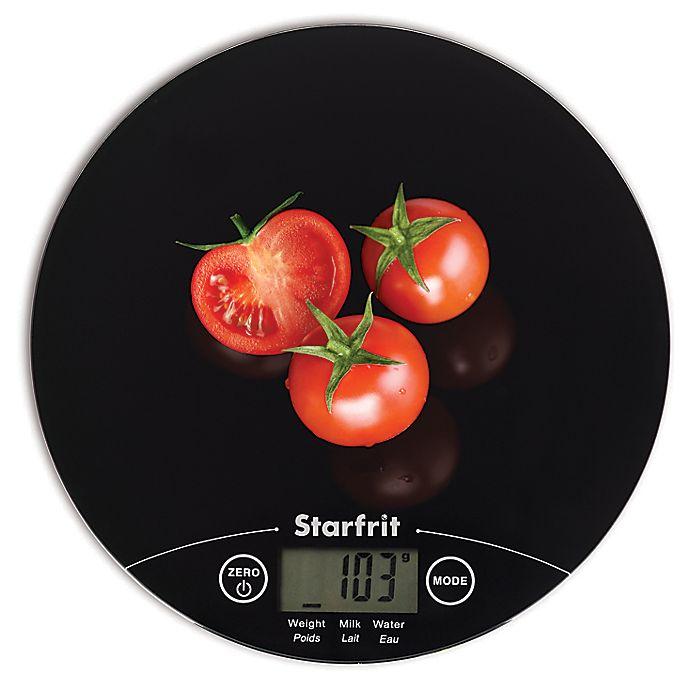 Alternate image 1 for Starfrit™ Ultra-Slim Kitchen Scale in Black