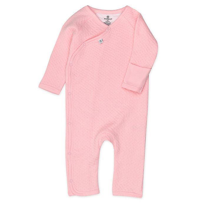 Alternate image 1 for Honest Baby Organic Cotton Matelasse Kimono Coverall in Pink