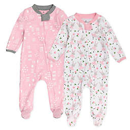 The Honest Company™ 2-Pack Organic Cotton TuTu Sleep & Plays in Pink/Grey