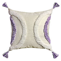 Wild Sage™ Half Moon Chenille Tufting Square Throw Pillow in Wisteria