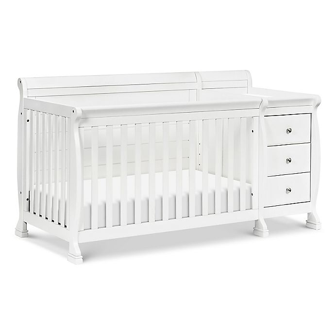 Alternate image 1 for DaVinci Kalani 4-in-1 Convertible Crib & Changer in White