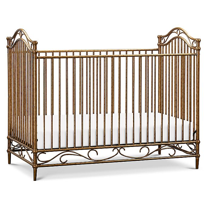 Alternate image 1 for Million Dollar Baby Classic Camellia 3-in-1 Convertible Crib in Vintage Gold