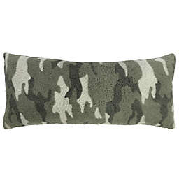 Simply Essential™ Camo Sherpa Oblong Throw Pillow in Green