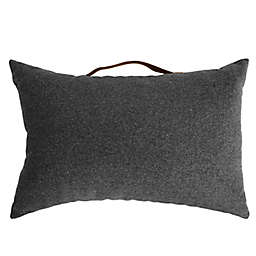 Simply Essential™ Felt Oblong Throw Pillow with Faux Leather Handle in Grey