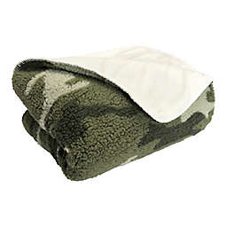 Simply Essential™ Camo Sherpa Throw Blanket in Green