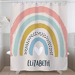 Boho Rainbow Personalized Shower Curtain