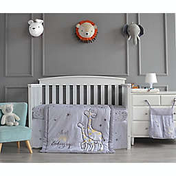 Nipperland® 4-Piece Giraffe the Dreamer Crib Bedding Set in Light Grey