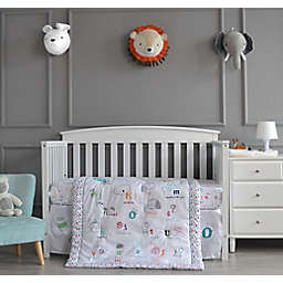 Nipperland® A is for Apple 3-Piece Crib Bedding Set in White