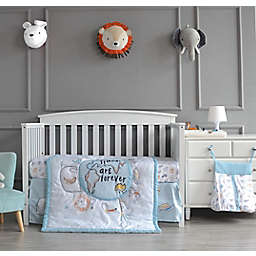 Nipperland® Best Friends Forever 4-Piece Crib Bedding Set in Turquoise Blue/White