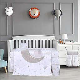Nipperland® 5-Piece Good Moon'n Elephant Crib Bedding Set in White<br />