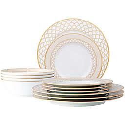 Noritake® Eternal Palace 12-Piece Dinnerware Set in White/Gold