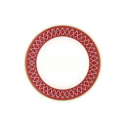 Noritake® Crochet Bread & Butter Plates in White/Red (Set of 4)