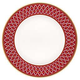 Noritake® Crochet Salad Plates in White/Red (Set of 4)
