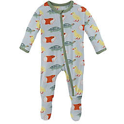 KicKee Pants® Newborn Class Pets Footie Pajama in Blue