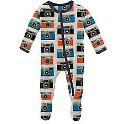 KicKee Pants® Size 0-3M Mom's Camera Footie Pajama in White