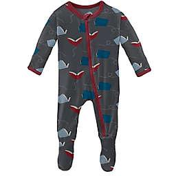 KicKee Pants® Size 0-3M Flying Books Footie Pajama in Slate