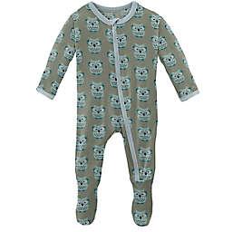 KicKee Pants® Size 6-9M Wise Owls Footie Pajama in Silver Sage