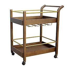 Studio 3B™ Bar Cart in Walnut/Brass