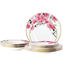 Noritake® Yae 12-Piece Dinnerware Set in White/Pink