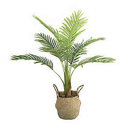 Flora Bunda 34-Inch Artificial Big Palm with Natural Basket