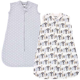 Hudson Baby® Size 0-6M 2-Pack Safari Sleeveless Wearable Blankets in Royal