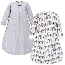 Hudson Baby® Royal Animals Quilted Long Sleeve Wearable Blankets (Set of 2)