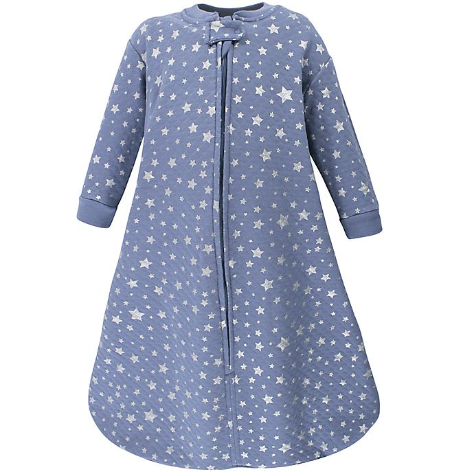 Alternate image 1 for Hudson Baby® Size 0-6M Star Quilted Long Sleeve Wearable Blanket in Blue