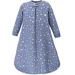 Hudson Baby® Size 0-6M Star Quilted Long Sleeve Wearable Blanket in Blue