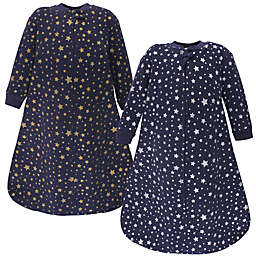 Hudson Baby® Size 18-24M 2-Pack Stars Long Sleeve Wearable Blankets in Blue