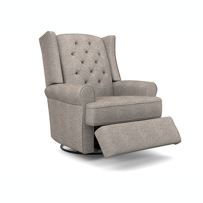 Alternate image 1 for Best Chairs® Storytime Series Finley Swivel Glider Recliner in Stone Grey