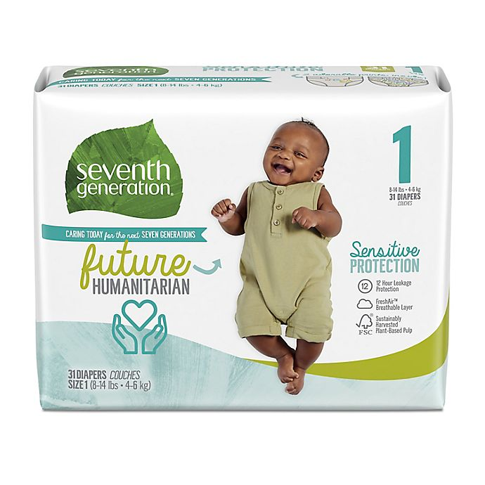 Alternate image 1 for Seventh Generation™ Free and Clear Size 1 40-Count Disposable Diapers