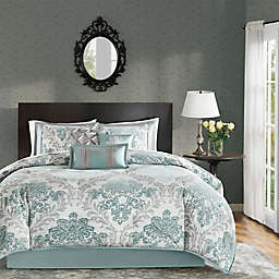 Madison Park Bella 7-Piece California King Comforter Set in Aqua