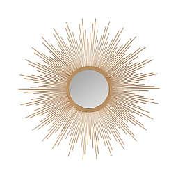 Madison Park Large Fiore Sunburst Mirror in Gold