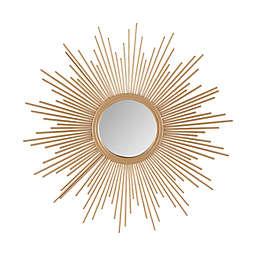 Madison Park Fiore Sunburst Mirror in Gold