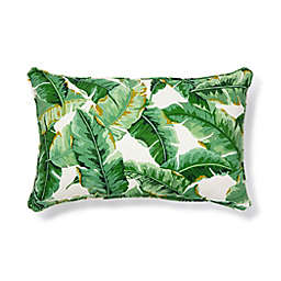 W Home™ Palm Indoor/Outdoor Oblong Throw Pillow in Green