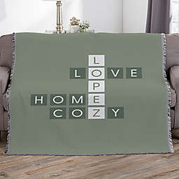 Family Crossword Personalized Woven 56-Inch x 60-Inch Throw