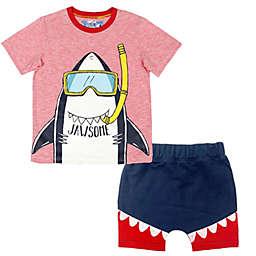 "Kapital K™ Size 12M 2-Piece ""JAWSOME"" Shark Tee and Short Set"