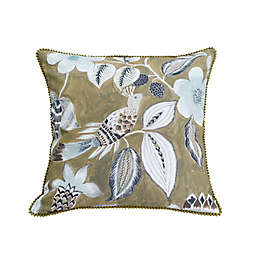 MM Linen Lark Square Throw Pillow in Mustard