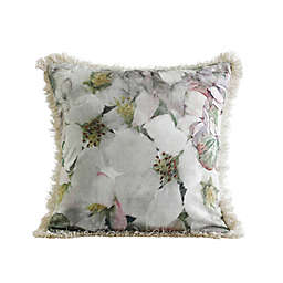 MM Linen Arlette Square Throw Pillow in Grey