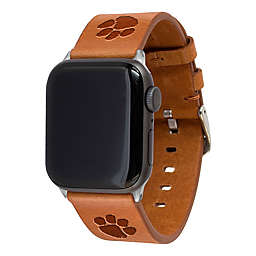 Clemson University Apple Watch® 42/44MM Long Leather Band in Tan