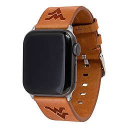West Virginia University Apple Watch® Long Leather Band in Tan