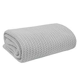 Living Textiles Organic Cotton Celullar Blanket in Grey