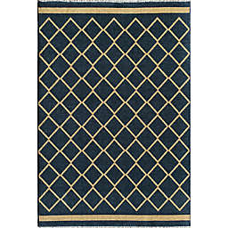 Rugs America Hadley Imperial 8' x 10' Area Rug in Navy/Gold