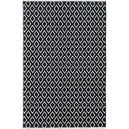 Rugs America Hadley Sovereignty 8' x 10' Area Rug in Black/Ivory