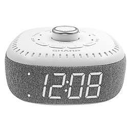 Sharp® Dreamcaster LED Alarm Clock in White